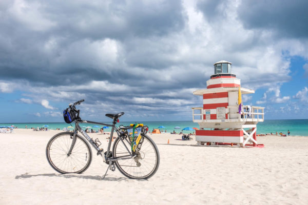 Visite guidée francais  South Beach à vélo