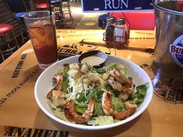 salade crevettes Bubba Gump à Miami