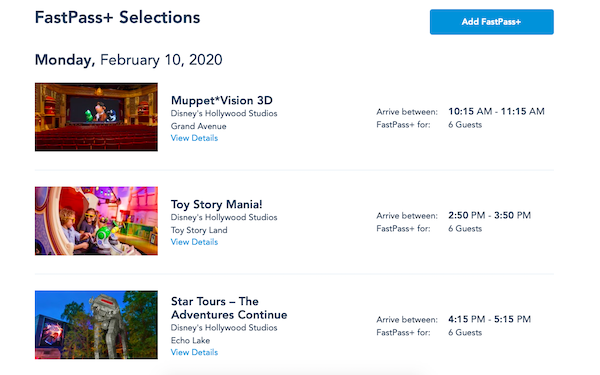 FastPass+ Walt Disney World Orlando