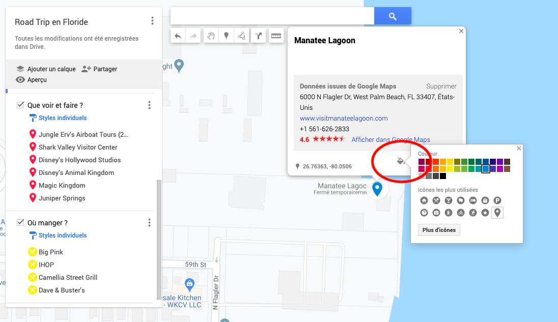google maps itinéraire