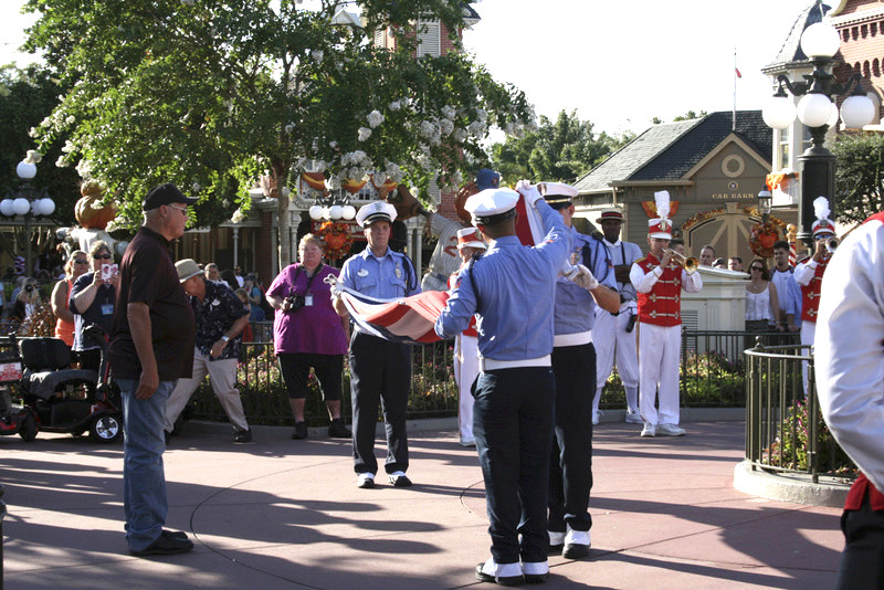 Flag Retreat Magic Kingdom